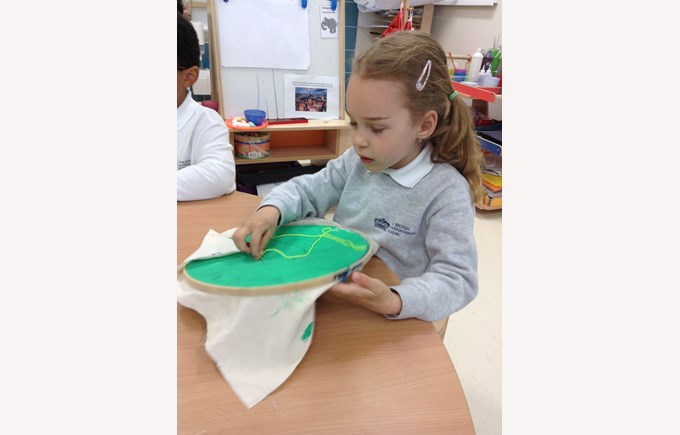 Reception and Year 1 sewing project