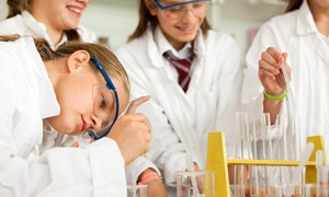 Students in the chemistry lab