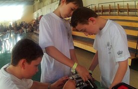 Robotics - our BISB competitors hard at work