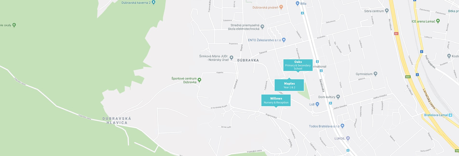 British International School Bratislava - Map