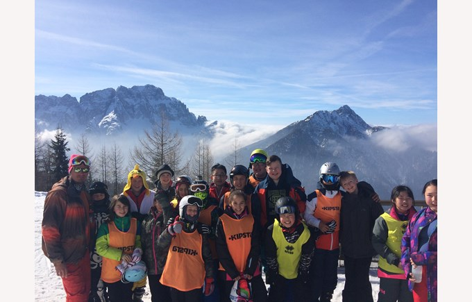BISB Ski Camp 2017 Group photo