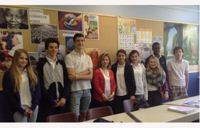 Teacher from Spain visiting Collège Champittet