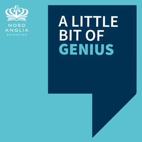 A Little Bit of Genius general thumbnail blue quote teal background