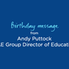 Birthday Message from Andy Puttock