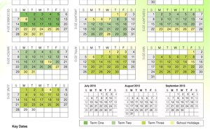 The school calendar for 2014 2015