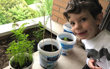 Earth Day 2020 Eyal plants world globe Primary
