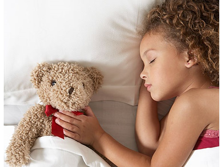 Child Asleep with a Teddy Bear