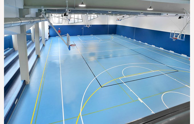 The new gymnasium at ICS Madrid