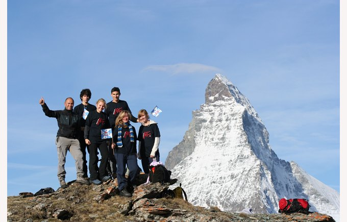 Summer Camp students reach the summit