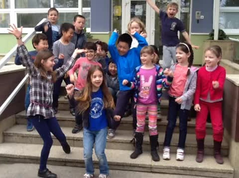 "Enjoy this cover of Pharrell Williams' ""Happy"" that our children from Year 3 made during the Arts week."
