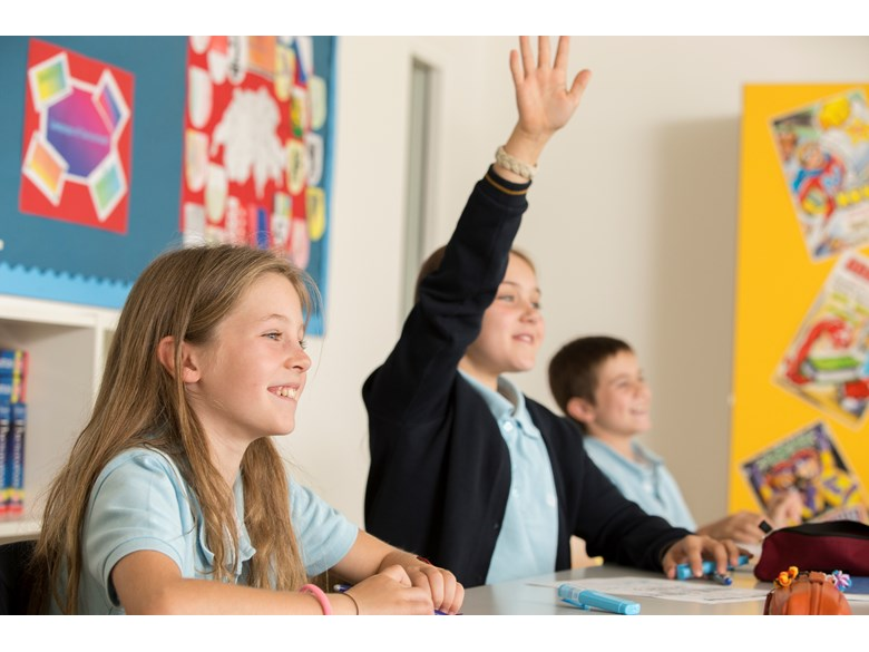 Year 6 Students Raising Hand