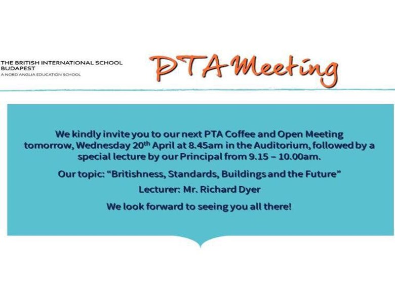 PTA Open Meeting and Forum