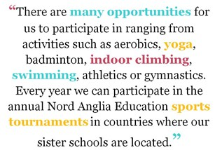 Sporting opportunities at The British International School Bratislava (BIS)