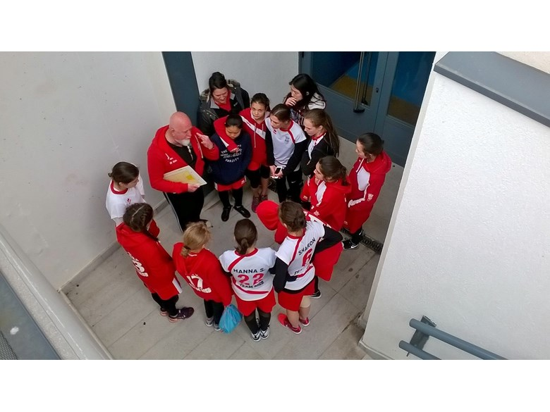 NAE Sports Tournament Madrid - Girls tactical meeting