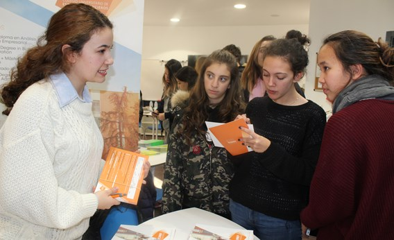 The Spanish Universities Fair attended by the local community held at ICS Madrid