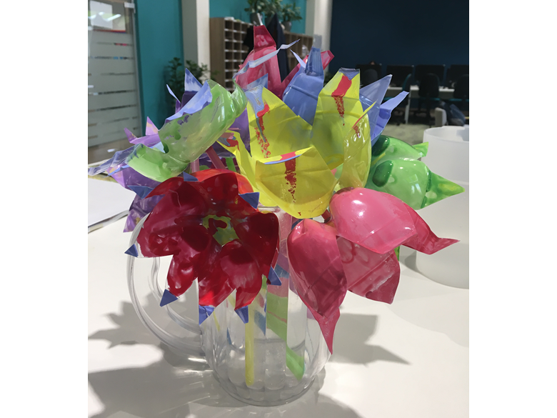 Primary News Recycled flower