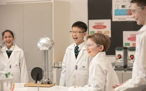 Secondary students learning Science