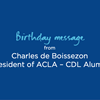 Birthday Message from Charles de Boissezon