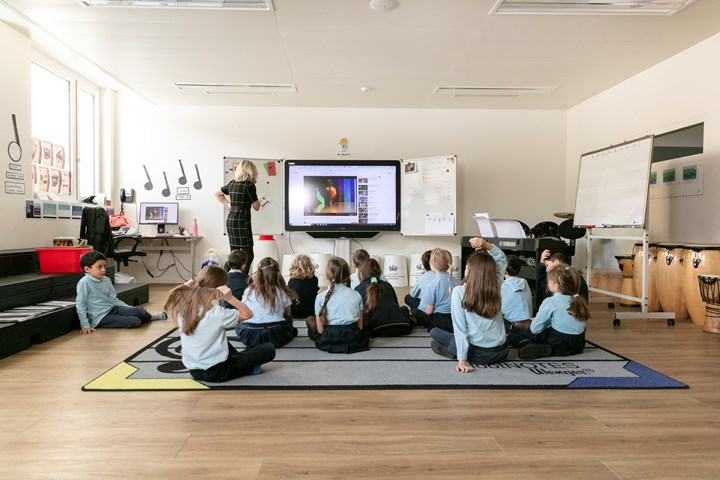 Primary students in class