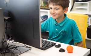 Lower School Boy at the Computer