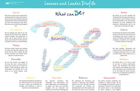 Student-created learner and leader profile