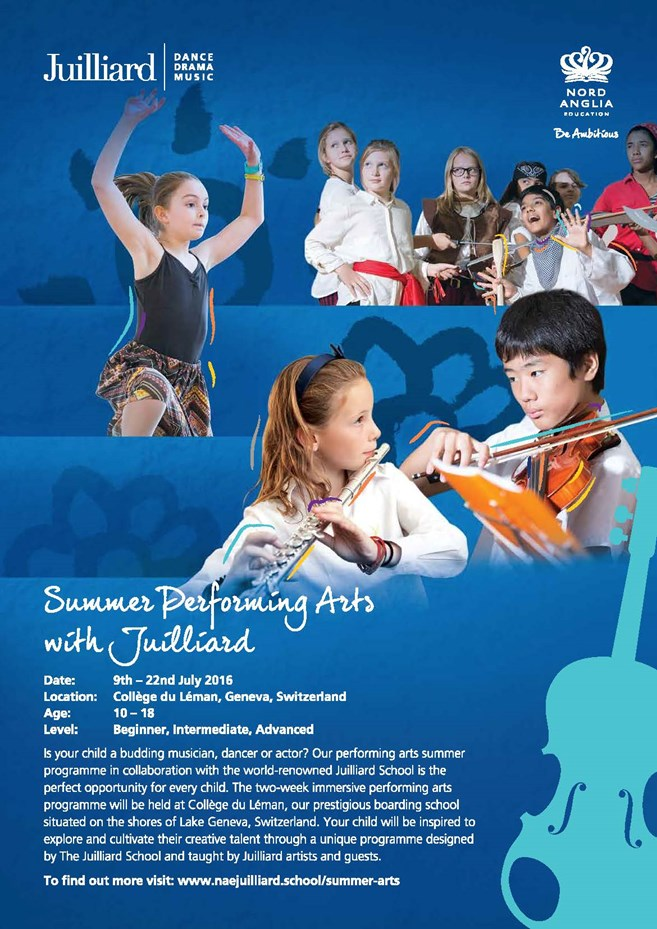 Summer Performing Arts with Juilliard Poster
