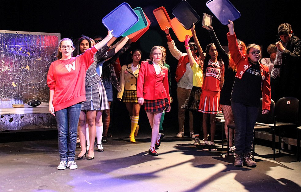 "The high school production of ""Heathers"""