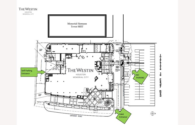 Map for parking at Westin Hotel