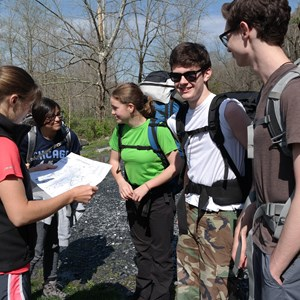 students on expedition at the British International School of Washington