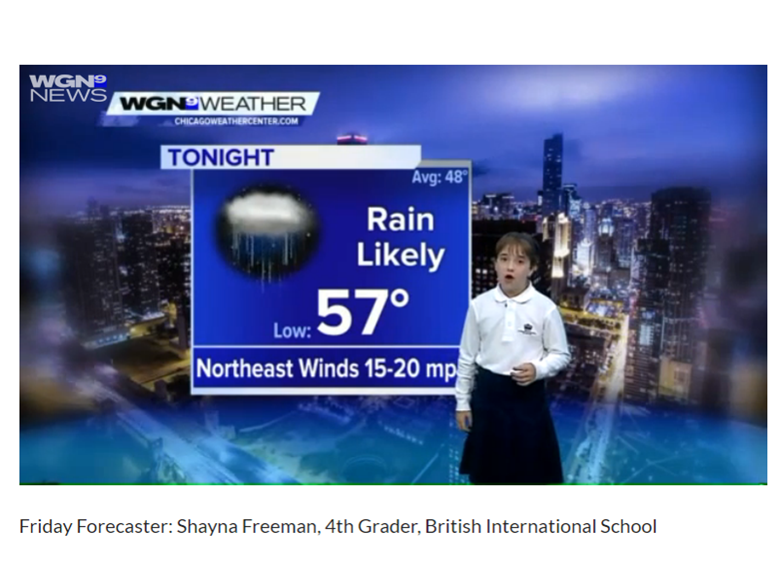 BISC Lincoln Park's Shayna Freeman is WGN's Friday Forecaster