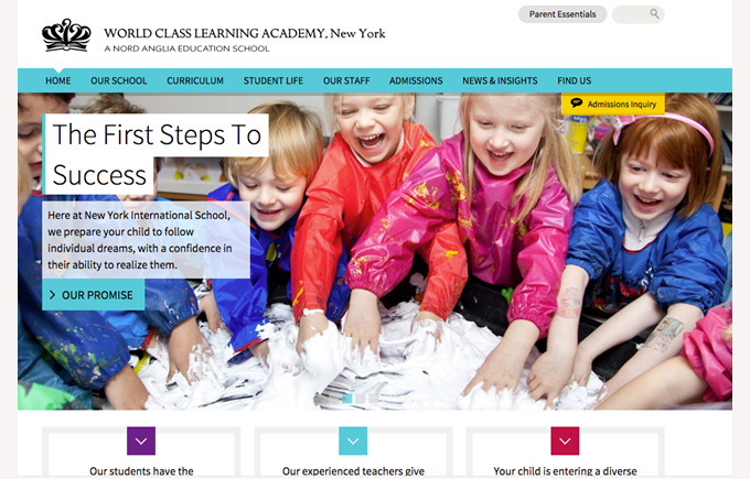 New School website