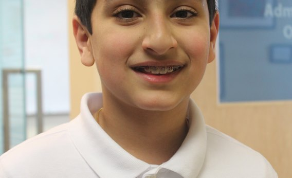 A British International School of Boston student is pictured.