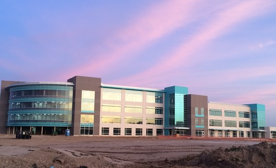 New campus at sunrise