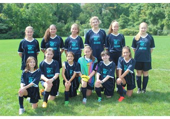 Middle School Girls Soccer team