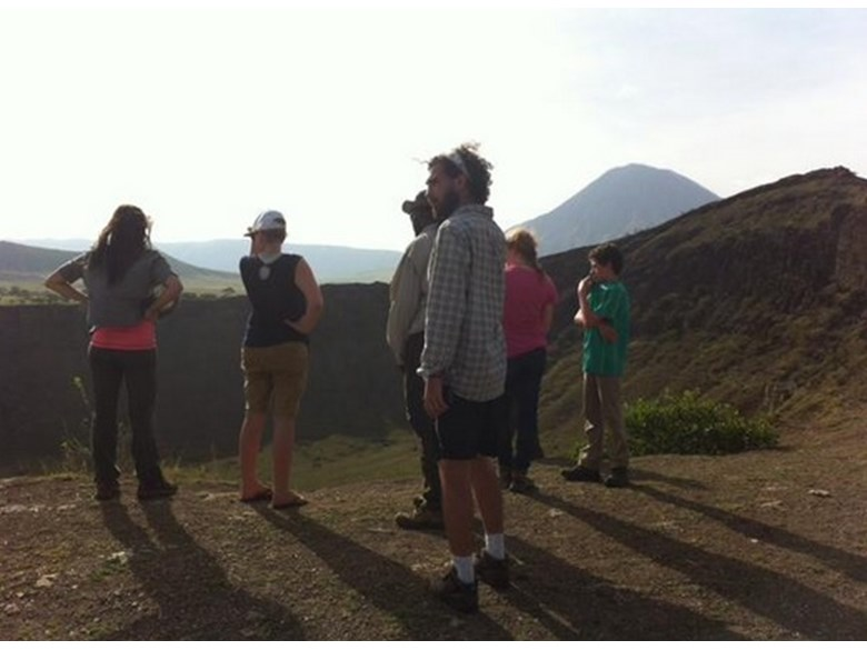British International School of Boston students visit the Lake Natron region of Tanzania in Africa.