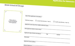 admission application landscape