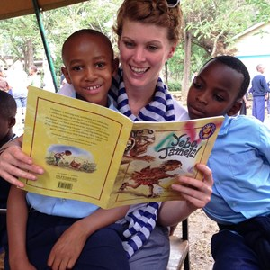 Student from the British International School of Charlotte in Tanzania
