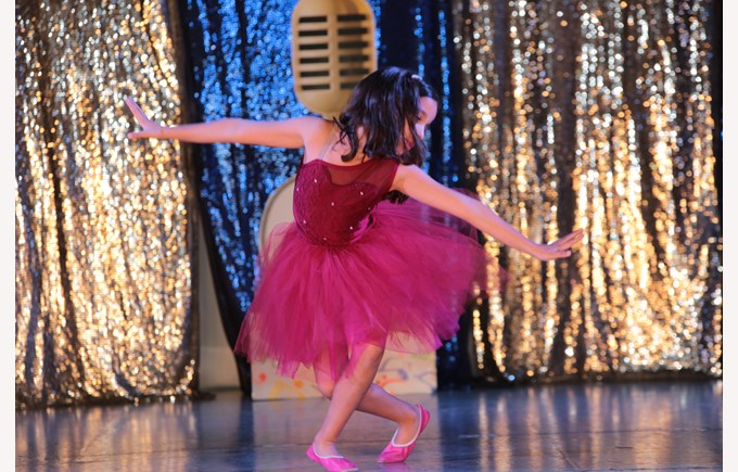 Girl dancing ballet at our talent show