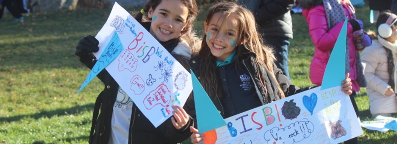 Boston private school students cheer on the British International School of Boston
