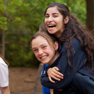students embracing at the British International School of Washington