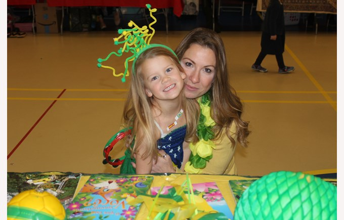 BISB Parent with her child during an Open School event