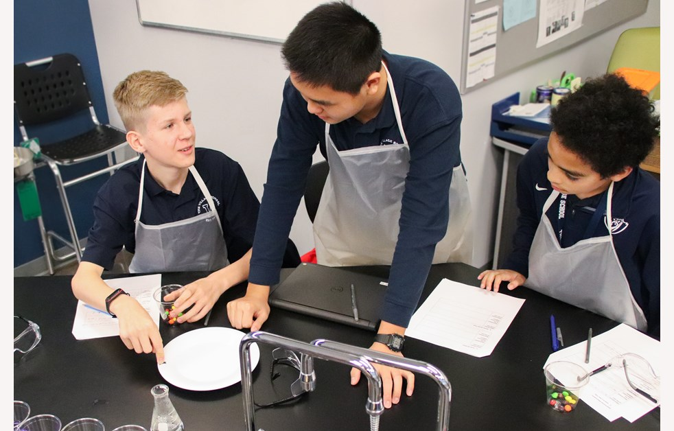Students Collaborating Chemistry