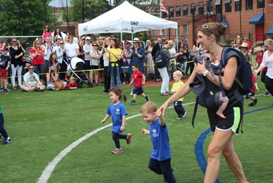 BISW Private British International School of Washington in DC Happy parents involved in sports day games