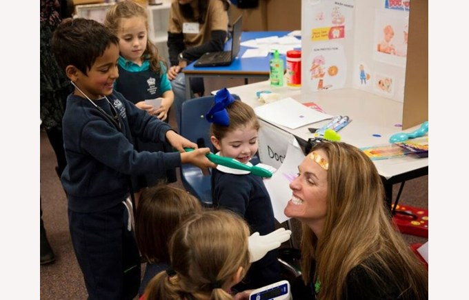 Parent speaks to Lower Primary students during Career Day