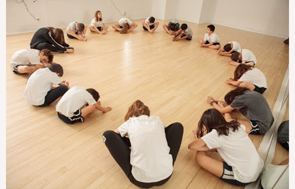 dance class group team learning studio