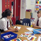 students learning languages
