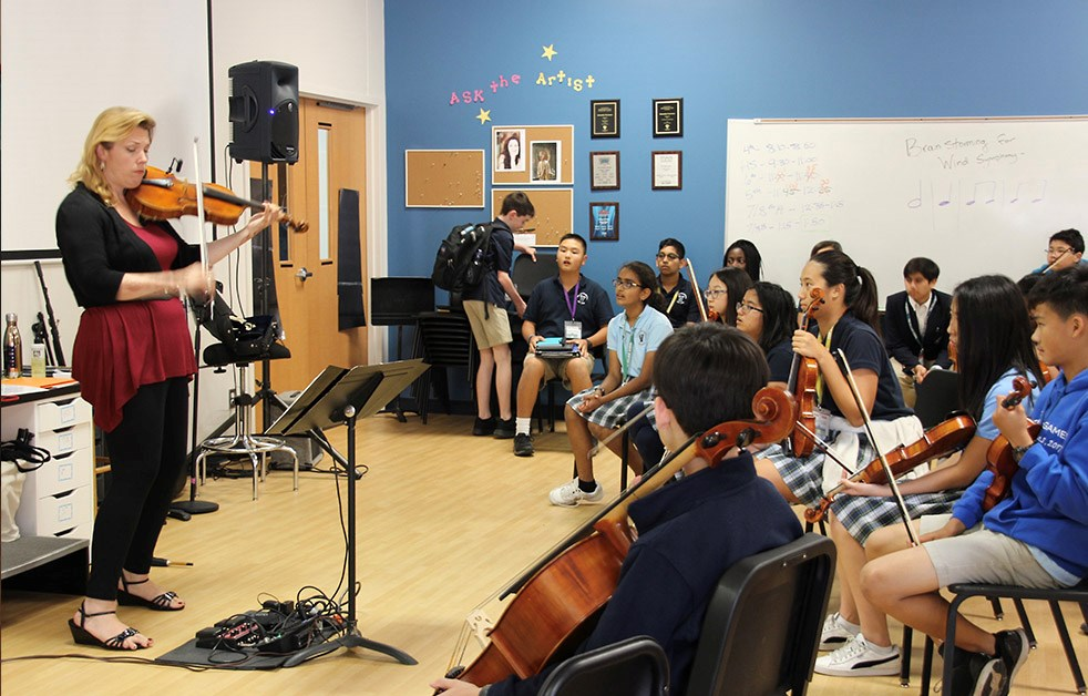 Juilliard visiting artists share insights with students.