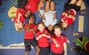 private British international school Houston students laughing