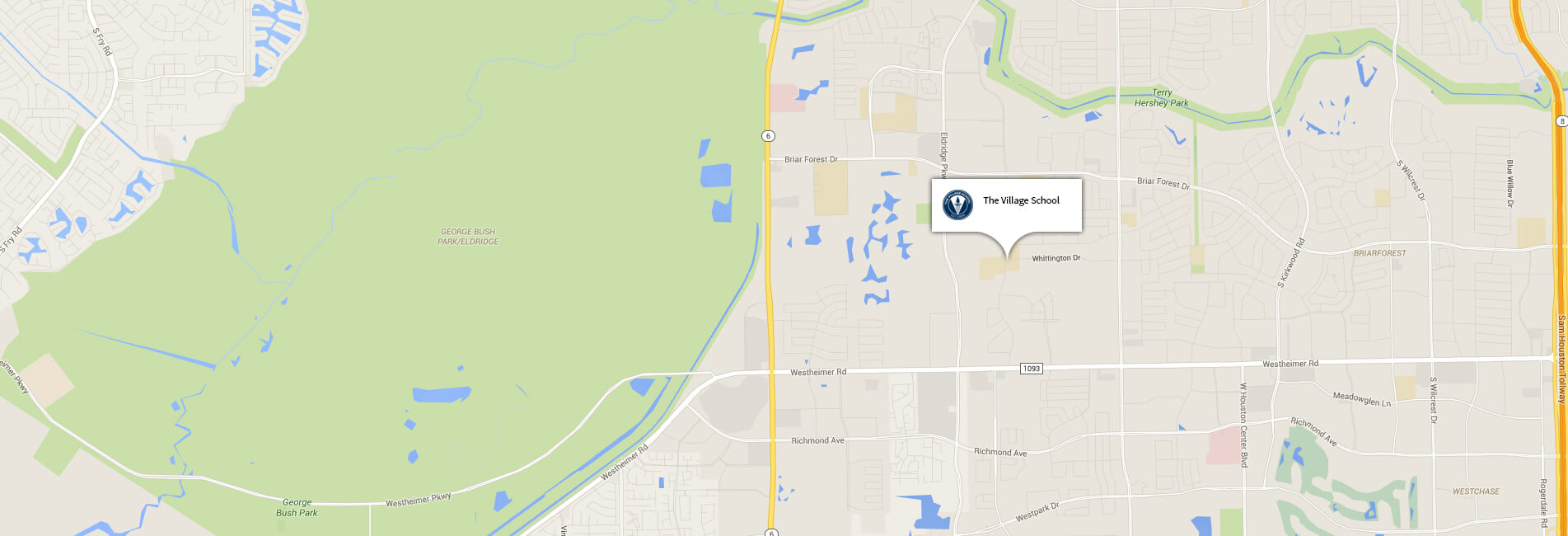 The Village School homepage map