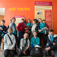 BISW British International School of Washington DC students participating in the MIT Collaboration